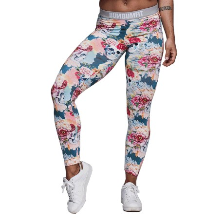 BUMBUM FIT Pink Skull Leggings
