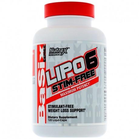 Nutrex Lipo-6 Stim Free 120 Liquid Caps