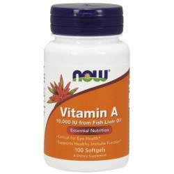 NOW Foods Vitamin A 10000 IU - 100 Softgels